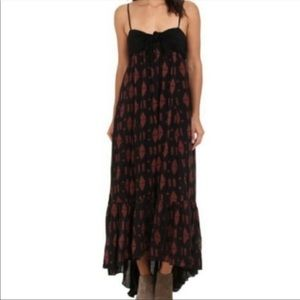 Free People High Low Maxi Dress with Front Tie